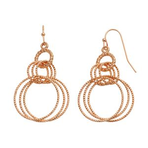 Apt. 9® Textured Hoop Drop Earrings