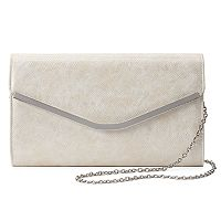 Lenore by La Regale Snakeskin Print Envelope Clutch