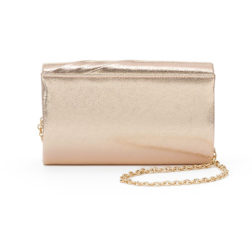 Lenore by La Regale Pleated Flap Clutch