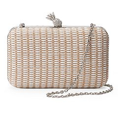 Lenore by La Regale Pineapple Minaudiere Clutch
