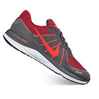 Nike Mens Dual Fusion X2 Running Shoes (Grey/Red)