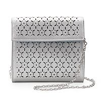 Lenore by La Regale Perforated Crossbody Bag