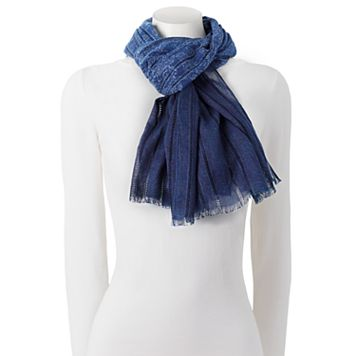 Chaps Floral Paisley Oblong Scarf