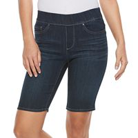 Petite Croft & Barrow® Pull-On Bermuda Shorts