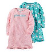 Girls 4-14 Carter's 2 pk'Princess' & Castle Nightgowns