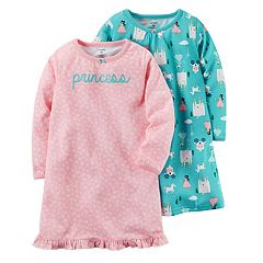 Girls 4-14 Carter's 2 pk'Princess' & Castle Nightgowns