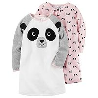 Girls 4-14 Carter's 2-pk. Panda Face Nightgowns