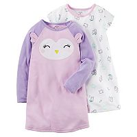 Girls 4-14 Carter's 2-pk. Owl Face Nightgowns