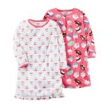 Girls 4-14 Carter's 2-pk. Hearts & Sweets Nightgowns