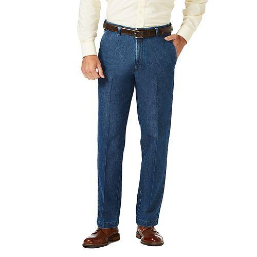 5c71e45298f Men s Haggar Classic-Fit Stretch Expandable-Waist Flat-Front Jeans