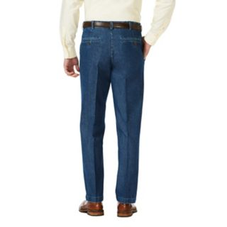 Men's Haggar Classic-Fit Stretch Expandable-Waist Flat-Front Jeans