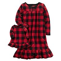 Girls 4-14 Carter's Buffalo Check Nightgown & Doll Dress Set