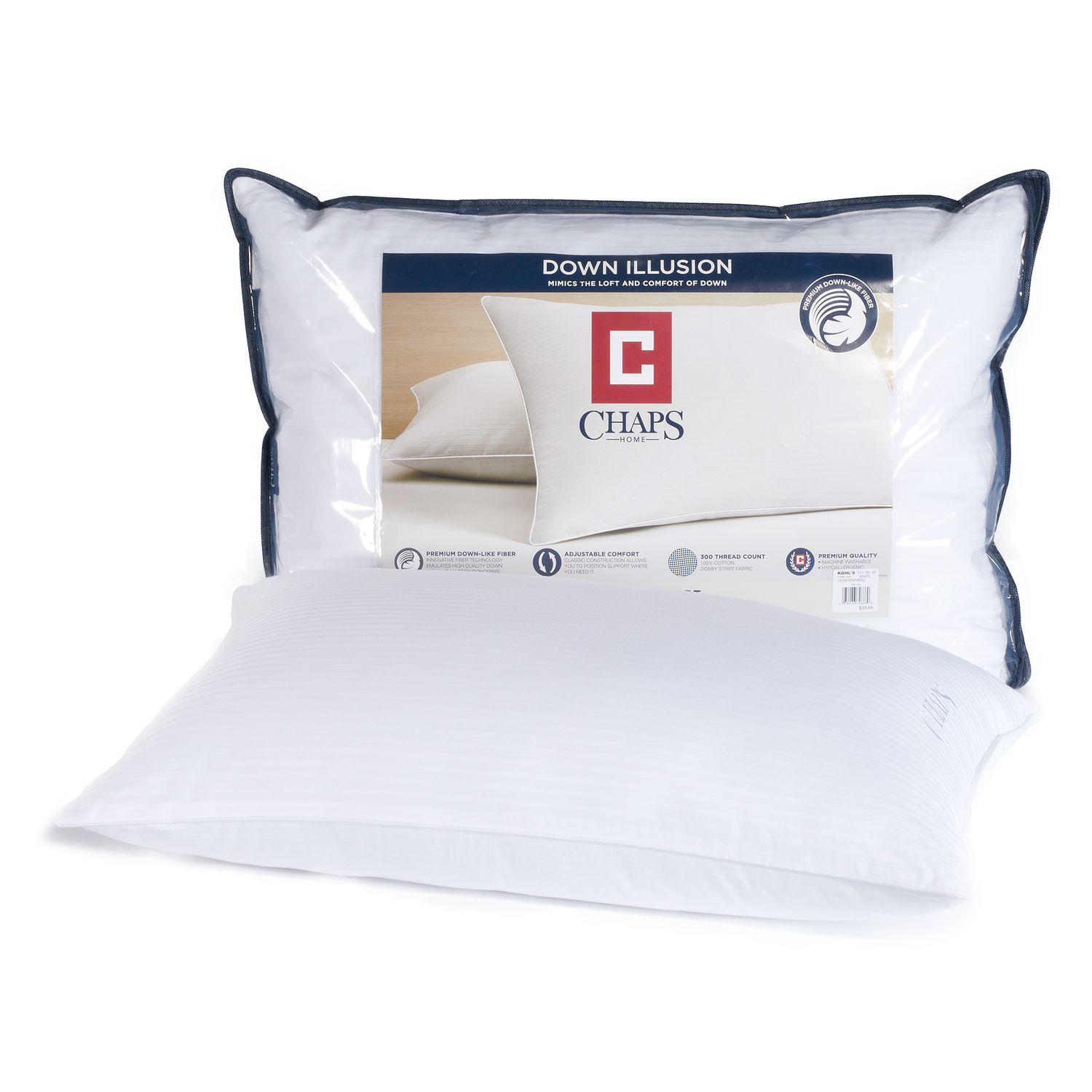 chaps home medium support illusion pillow