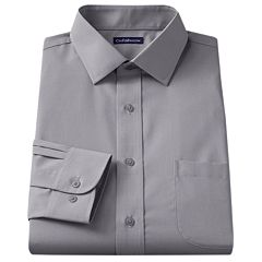 Croft & Barrow® Slim-Fit Solid Broadcloth Spread-Collar Dress Shirt