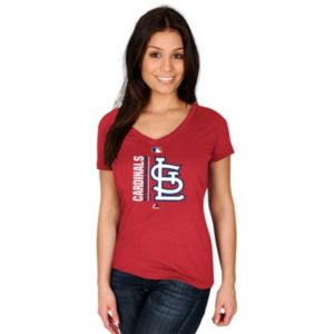 Women's Majestic St. Louis Cardinals AC Team Icon Tee