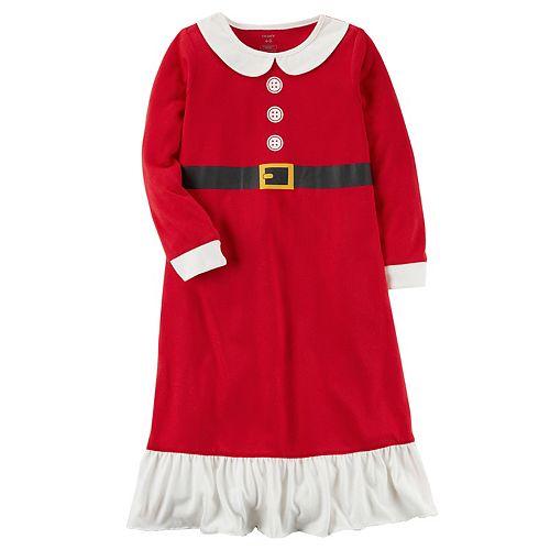 Girls 4-14 Carter's Santa Fleece Nightgown