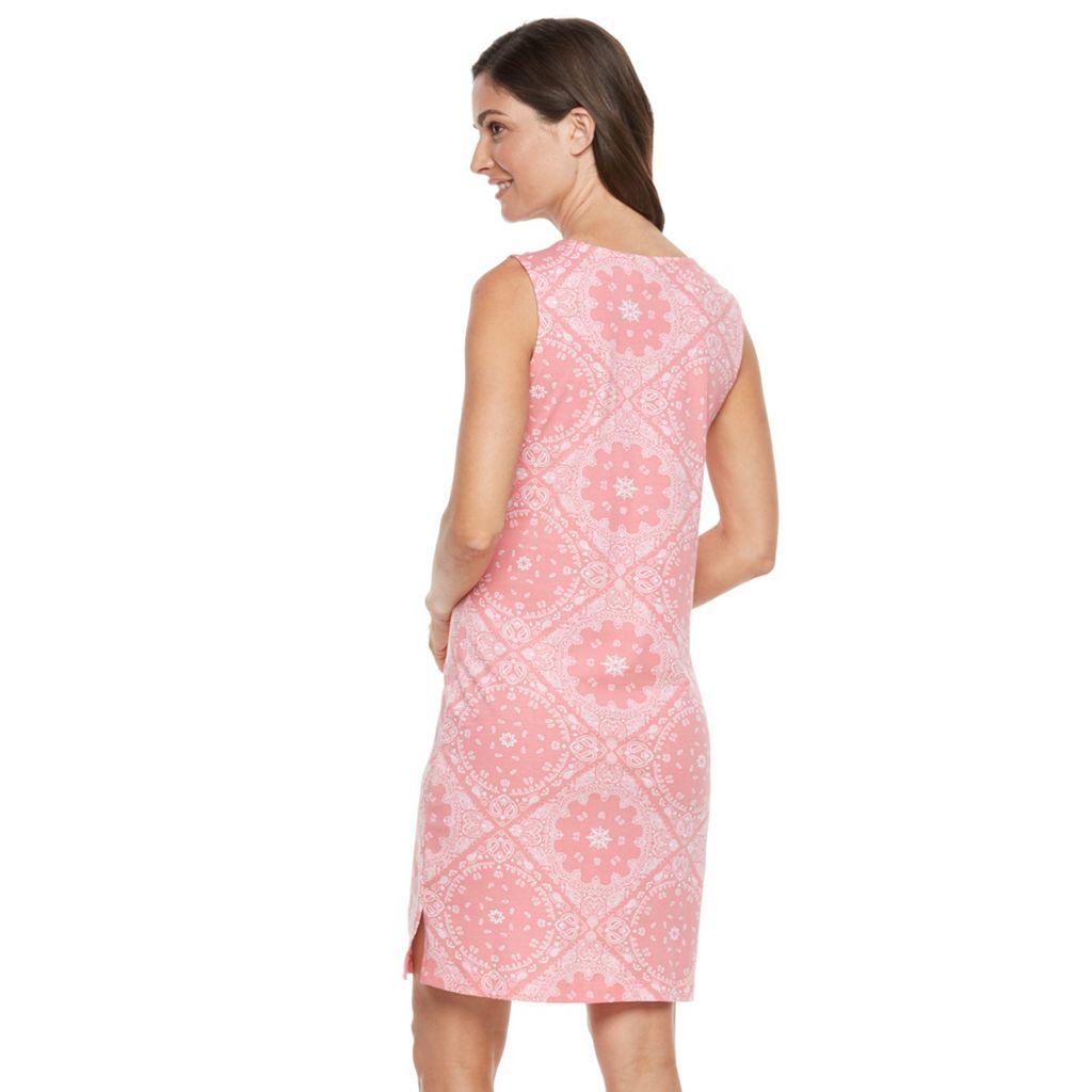 Women's Caribbean Joe Bandana Print Tank Dress