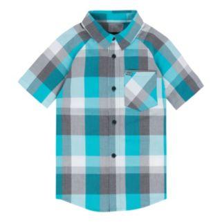 Boys 8-20 Hurley Plaid Button-Down Shirt