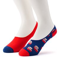 Men's 2-Pack Patterned No-Show Liner Socks
