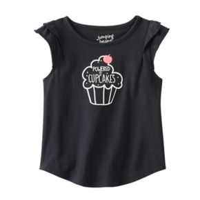 """Toddler Girl Jumping Beans® Flutter Short Sleeve """"Powered by Cupcakes"""" Graphic Tee"""