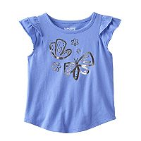 Toddler Girl Jumping Beans® Flutter Short Sleeve Butterfly Foil Graphic Tee