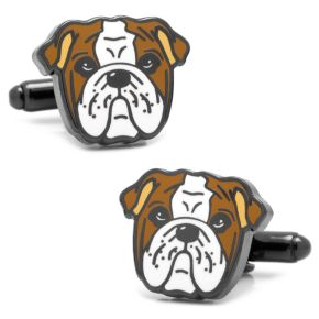 English Bulldog Cuff Links