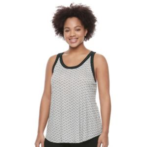 Juniors' Plus Size Candie's® Chevron Back Tank