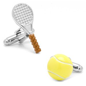 Tennis Ball & Racket Cuff Links