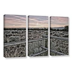 ArtWall Intersection Of The Tortoise & Hare Canvas Wall Art 3 pc Set