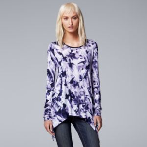 Women's Simply Vera Vera Wang Printed Handkerchief Top