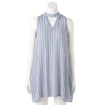 Women's E by Elan Striped Cutout Shift Dress