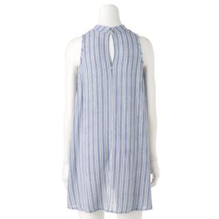 Women's E by Elan Striped Cutout Shift Dress