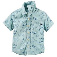 Toddler Boy OshKosh B'gosh® Printed Oxford Shirt