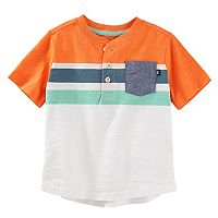 Toddler Boy OshKosh B'gosh® Striped Chambray Pocket Henley