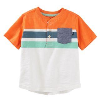 Toddler Boy OshKosh B'gosh® Striped Chambray Pocket Henley