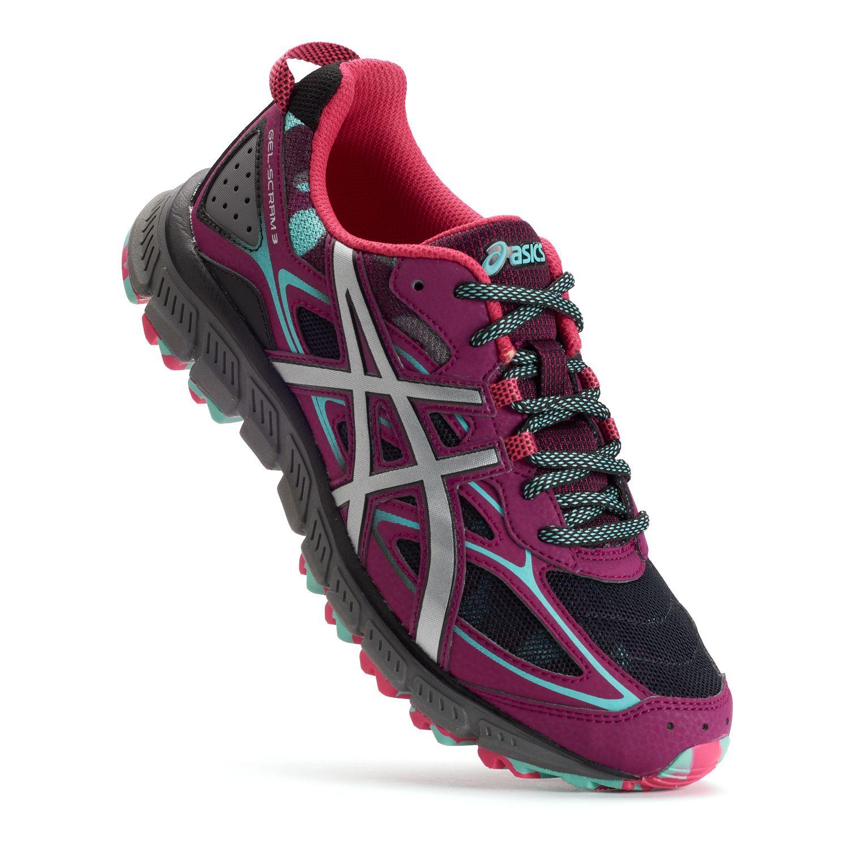 asics women's scram trail shoes