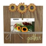 "SONOMA Goods for Life™ Planked Wood Sunflower 4"" x 6"" Photo Clip Frame"