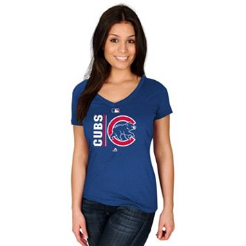Women's Majestic Chicago Cubs AC Team Icon Tee