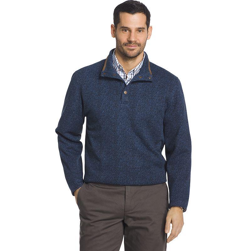 db8db48c69b9 Big   Tall Arrow Classic-Fit Herringbone Mockneck Fleece Sweater ...
