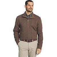 Big & Tall Arrow Classic-Fit Herringbone Mockneck Fleece Sweater