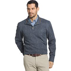 Big & Tall Arrow Classic-Fit Herringbone Mockneck Fleece Sweater