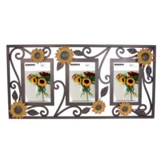 """SONOMA Goods for Life™ Sunflower 3-Opening 4"""" x 6"""" Wire Frame"""