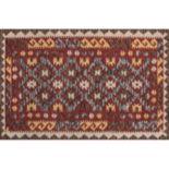 Momeni Tangier Mara Framed Geometric Wool Rug