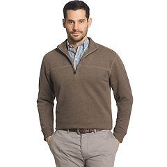 Big & Tall Arrow Classic-Fit Sueded Fleece Quarter-Zip Pullover