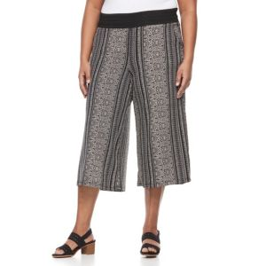 Plus Size French Laundry Crochet Wide Leg Culottes
