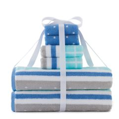 Simple By Design 6-piece Grid Bath Towel Set