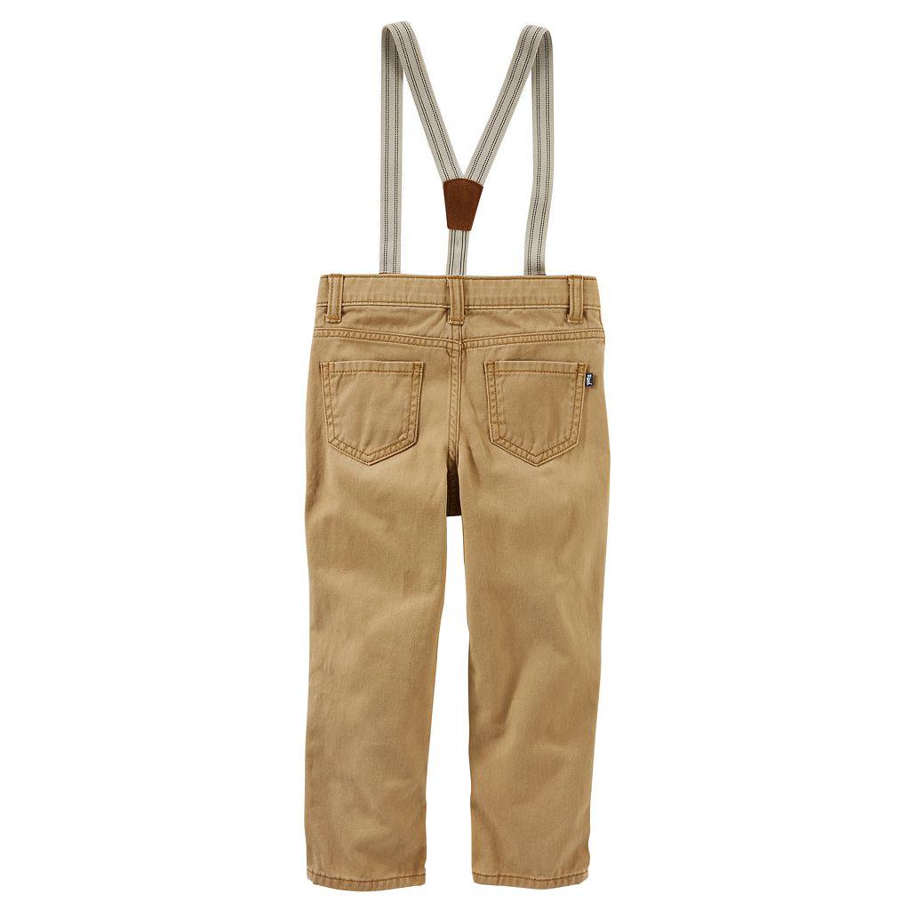 Toddler Boy OshKosh B'gosh® Twill Suspender Pants