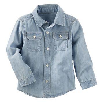 Toddler Boy OshKosh B'gosh® Chambray Denim Button-Down Shirt