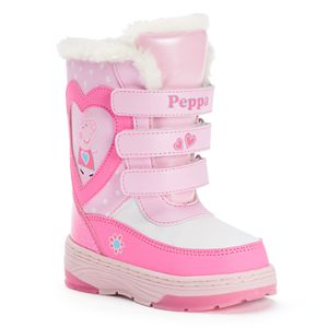 Peppa Pig Toddler Girls' Water-Resistant Winter Boots