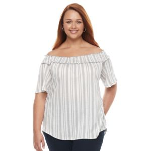 Plus Size French Laundry Off Shoulder Top